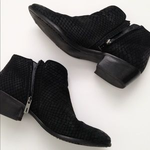 Sam Edelman embossed snakeskin booties